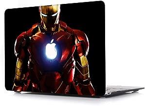 Hard Case for MacBook 12 inch Retina Model A1534 - AJYX Super Hero Wars Design Plastic Hard Protective Shell Cover - R350 Ironman