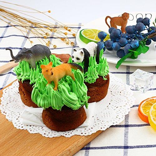 Tierfiguren, 54 Stücke Mini-Spielzeugset von Dschungel-Tieren, Tierwelt, lebensechte Wildtiere, Lernstoffe, Partyzubehör, Spielzeuge für Jungs und Kinder, Playset von Tieren im Wald und kleinen Farm - 7