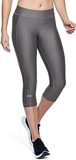 Under Armour Women's HeatGear Armour Capris Pants, Grey/Metallic Silver