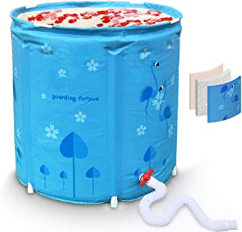 InflatFun Foldable Thermal Foam Foldable Portable Bathtub