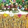 Luau Table Fringe, Hawaiian Tropical Grass Party Decoration (29 Inches x 9 Feet) #1