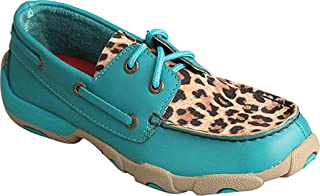Twisted X Girls Turquoise Driving Moccasins Moc Toe