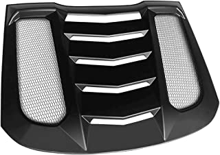 ?2011 2012 2013 Pre-Painted Window Louver Compatible With 2010-2014 Ford Mustang Factory Style Painted #HP Hi Performance White PP Rear Quarter Bodykit by IKON MOTORSPORTS