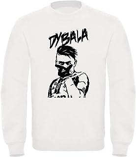 Tshirteria Italiana Felpa Girocollo Paulo Dybala 10 - La Joya - Bianca o Nera - Esultanza Dybala