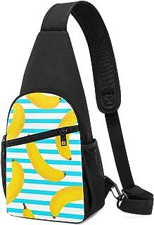 PGTry Banana - Mochila bandolera sin costuras, ligera, para el hombro, bolso bandolera, bolsa cruzada, viajes, senderismo,...