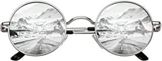 CGID E01 Retro Vintage Style Lennon Inspired Round Metal Circle Polarized Sunglasses for Women and Men