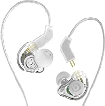 Adorer in Ear Montior Headphones for Musicians Drummers Singers with Detachable Cables, Foam Tips & Case, Wired Noise Cancelling Over Ear Earbuds w Mic & Volume, Stereo Earphones Clear Balanced Sound