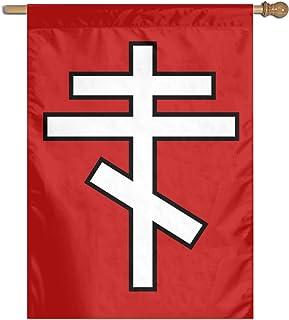 """Kaloloa Eastern Orthodox Cross Garden Flag Banner for House Yard Decoration Family Flag 27""""x37"""""""