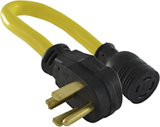 Conntek 14330 1.5-Foot Adapter 30 Amp NEMA 14-30P 4 Prong Male Plug To 30 Amp 125/250 L14-30R Volt Locking Female Connector