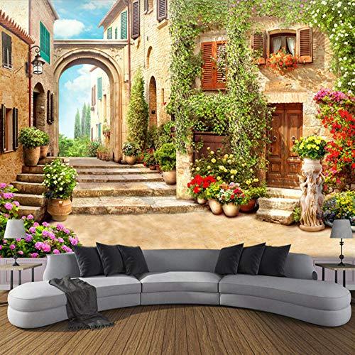 Papel Pintado 3D Foto Murales Casa soleada,Papel Tapiz Fotográfico Premium No-Tejido Mural Apto para Sala de Estar Dormitorio Decoración de la Papel Tapiz 400x280 cm - 8 tiras