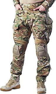 G3 Combat Pants Multicam Men Pants with Knee Pads Airsoft Hunting Military Paintball Tactical Camo Trousers