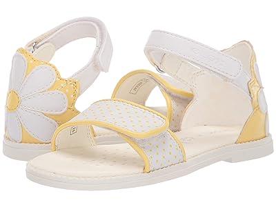 Geox Kids Sandal Karly Girl 30 (Toddler) (White/Yellow) Girl