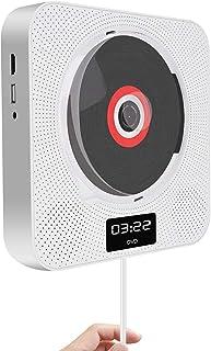 DVD Player Bluetooth Tragbar CD Player Wandmontierbar Kinder MP3 DVD/CD Player Radio mit LED Display, Timing Funktion, Fernbedienung, HDMI, USB Steckdose, 3,5 mm Kopfhörerbuchse, Weiß