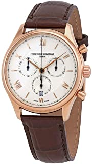 Frederique Constant Classics Silver Dial Leather Strap Men's Watch FC-292MV5B4