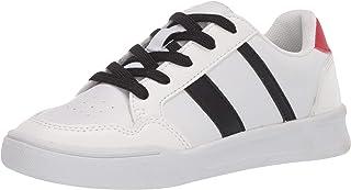Amazon Essentials Kids' Lace-Up Sneaker, White, 1 Medium US Big Kid