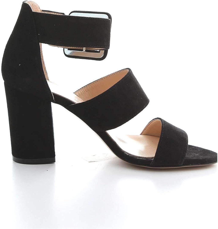 JANE white PARIS Women's E1104BLACK Black Suede Sandals