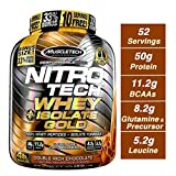 MuscleTech NitroTech Whey Plus Isolate Gold, Double Rich Chocolate, 4...