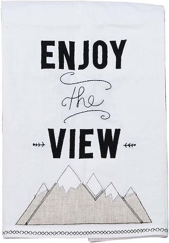 Glory Haus Enjoy The View Mountains Tea Towel Multicolor