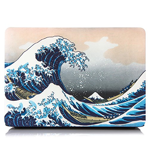 AUSMIX MacBook Air 13 Retina Case 2018/2019/2020 Released New Model A1932/A2179/A2337 M1 Touch ID Rubberized Hard Plastic Shell Snap on Easily Fit Perfectly Stunning Colour Laptop Cover - Sea Wave