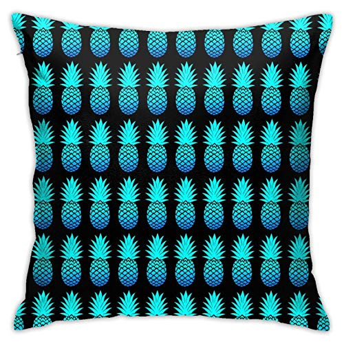 Fundas de Almohada Decorativas Fundas de cojín Funda de Almohada Estilo de Moda, (Cool Blue Pines Black)