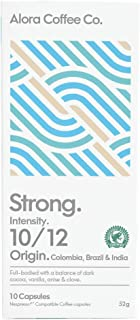 Alora Coffee Co, 1 pack of 10 Nespresso Compatible pods (10 pods total), Strong