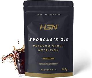 BCAA con Glutamina de HSN Sports | Evobcaa's 2.0 - Aminoácidos Ramificados Ratio 12:1:1 (L-Leucina + L-Valina + L-Isoleucina) | Recuperación y Ganar Masa Muscula | Sabor Cola - 500g