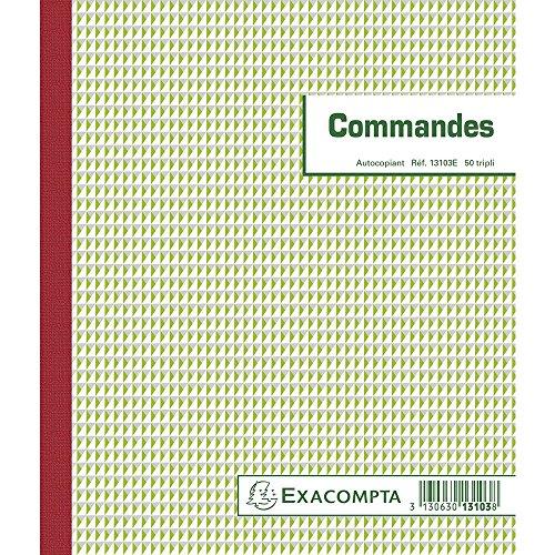 Exacompta 13103E Manifold Commandes, 21x18 cm tripli, autocopiant, 50 feuillets.