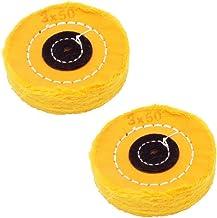 Almohadillas de pulido suave para taladro eléctrico y accesorios giratorios para coche, metal, diamante, joyería 7,6 cm, color amarillo, de Niupika.