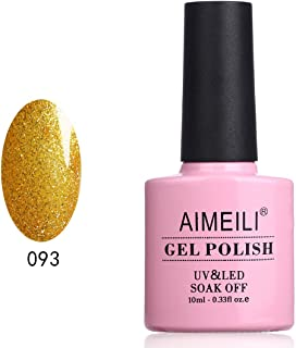 AIMEILI Soak Off UV LED Gel Nail Polish Glitter Christmas - My Fantasy Gold (093) 10ml