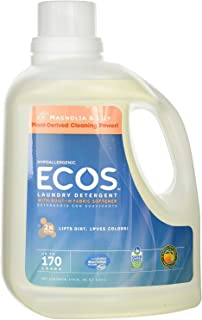 Earth Friendly Products Ecos Liquid Laundry Detergent, Magnolia and Lilies, 170 fl. Ounce