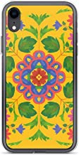iPhone XR Pure Clear Case Cases Cover Floral Rangoli Pattern on Yellow