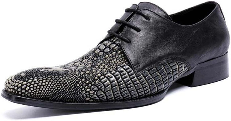 Winklepicker Business Casual Leather shoes Derby shoes Men Pump Square Toe Crocodile Pattern Lace up Wedding Dress shoes Oxford Lazy shoes Barber shoes EU Size EU Size 37-46