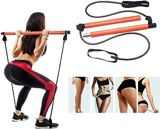 STRPRETTY BASIC Pilates Bar Kit with Resistance Band Yoga Pilates Stick
