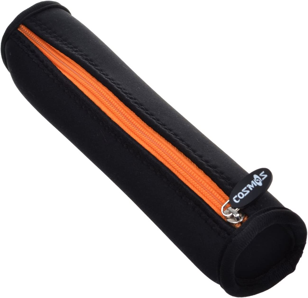 Cosmos Black Color with Orange Zipper Neoprene Stylus Pen Case Holder Pencil Bag Pouch