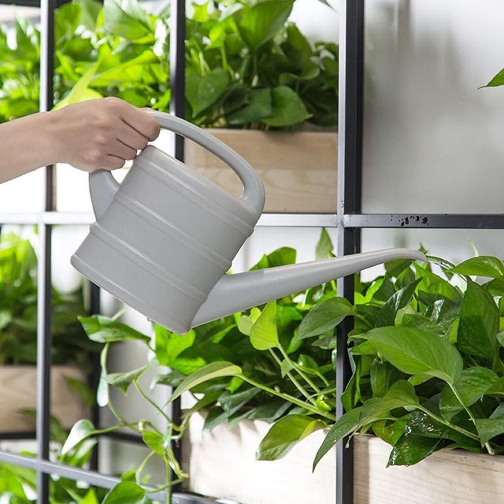 Regadera, botellas del aerosol de riego botella del aerosol cubierta moderna de plástico boca larga suculentas verdes Inicio interior del pote de jardinería, 1.5L (Color: gris, tamaño: 28.5 * 17.3 * 9: Amazon.es: Hogar