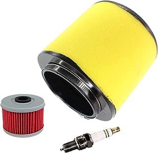 USPEEDA Air Filter Cleaner Tune Up Kit for Honda Foreman 500 TRX500FE TRX500FM TRX500FPA TRX500FPE TRX500FPM 4x4 TRX500TM 2x4 Rubicon 500 650 TRX500FA TRX650FA TRX650FGA Sportrax 400 TRX400EX