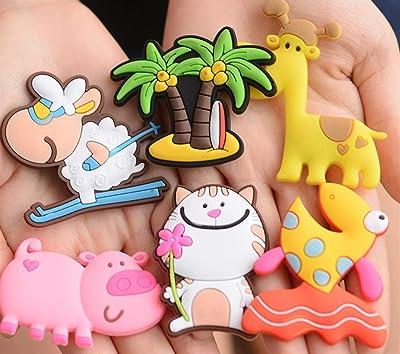 Happy- little -bear Portable Dibujos Animados Stereo Refrigerator Sticker Goldfish