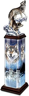 The Bradford Exchange Moonlit Passage Collectible Wolf Art Illuminated Tabletop Sculpture