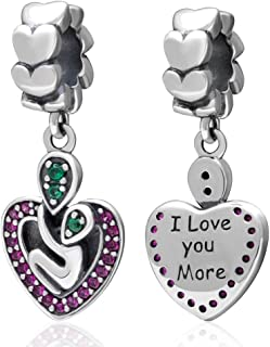 You&ME Charm 925 Sterling Silver I Love You Beads fit for Fashion Charms Bracelets