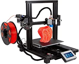 Monoprice MP10 Mini 3D Printer - Black with (200 x 200 mm) Magnetic Heated Build Plate, Resume Printing Function, Assisted Leveling, and Touch Screen