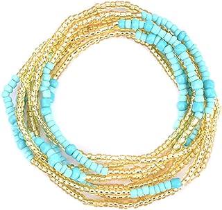 مجوهرات جسم خرز للخصر من اكسجويس، خرز ملون للبطن، مجوهرات خرز، سلاسل للخصر، سلاسل للنساء والفتيات