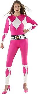 Morphsuits Disfraz de Mujer Oficial Rosado Power Rangers Vestuario Carnival - Medio