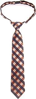Retreez Classic Check Woven Microfiber Pre-tied Boy's Tie - Various Colors