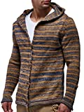 LEIF NELSON Men's Knitted Jacket Cardigan Small Brown