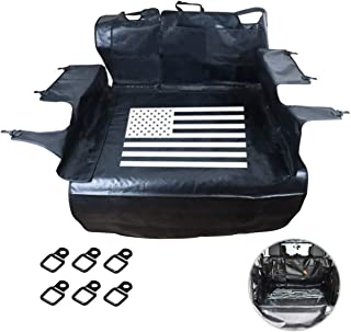 MFC Pet Seat Proof Covers Dog Seat Covers for 2007-2017 Jeep Wrangler JK & Jeep Wrangler JL 2018-2019 4-Door 600D Oxford Hypoallergenic Odorless (USA Flag)
