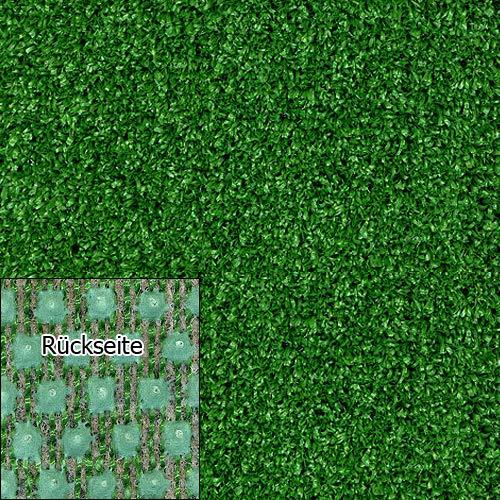 Kunstrasen Rasenteppich Tuft Exclusiv 10mm grün Meterware, mit Drainage-Noppen, verschiedene Größen, wasserdurchlässig, hohe UV-Beständigkeit (200x600 cm)