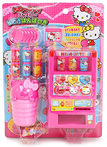 Hello Kitty Toy Vending Machine with Coins, Juice and Other Accessories (Japan Import)