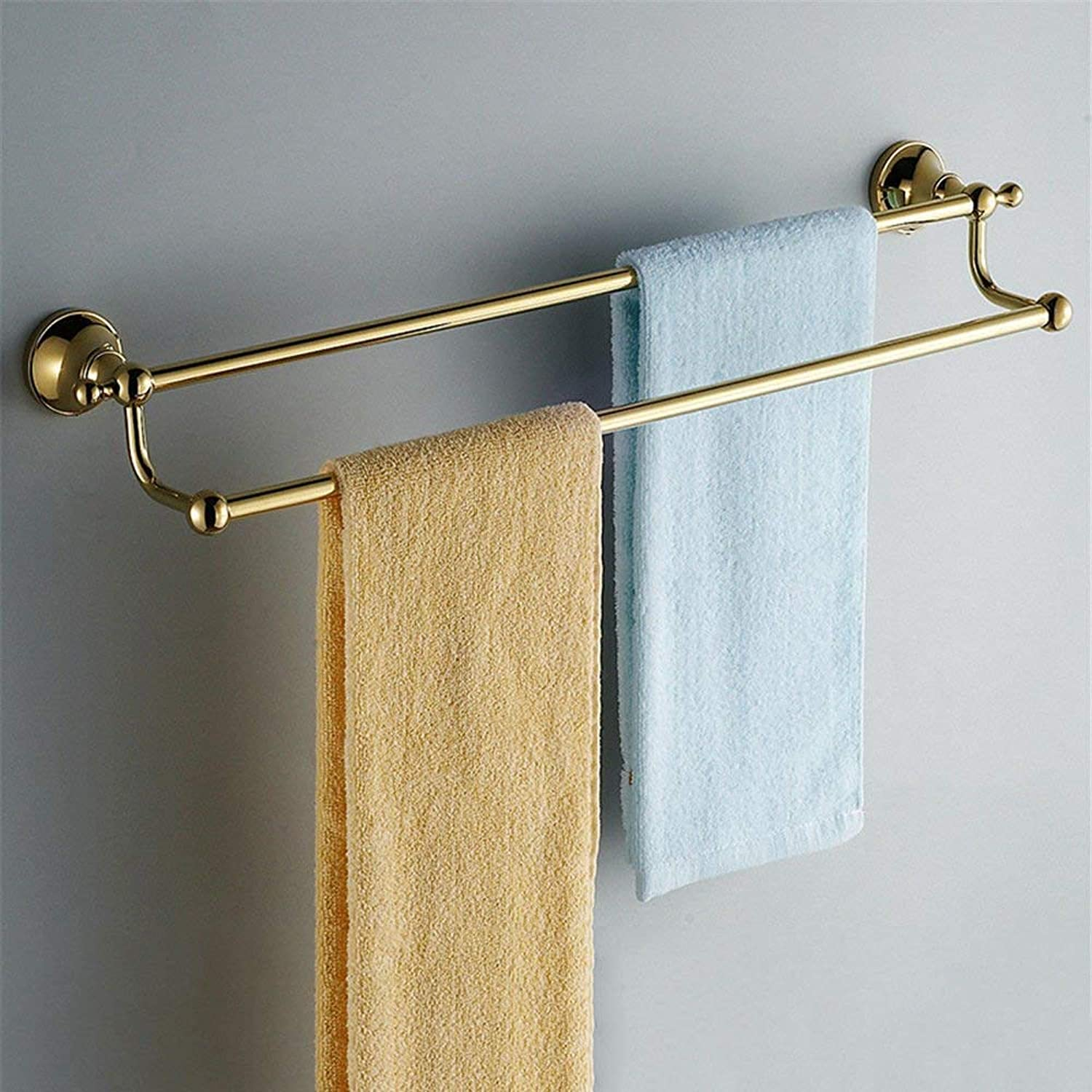 Towel Rack The Copper gold Bath Hardware Hanging in a Towel Rack Towel Rack, Brush Cup Bathroom Towel Shelf (color   Towel Rack2)