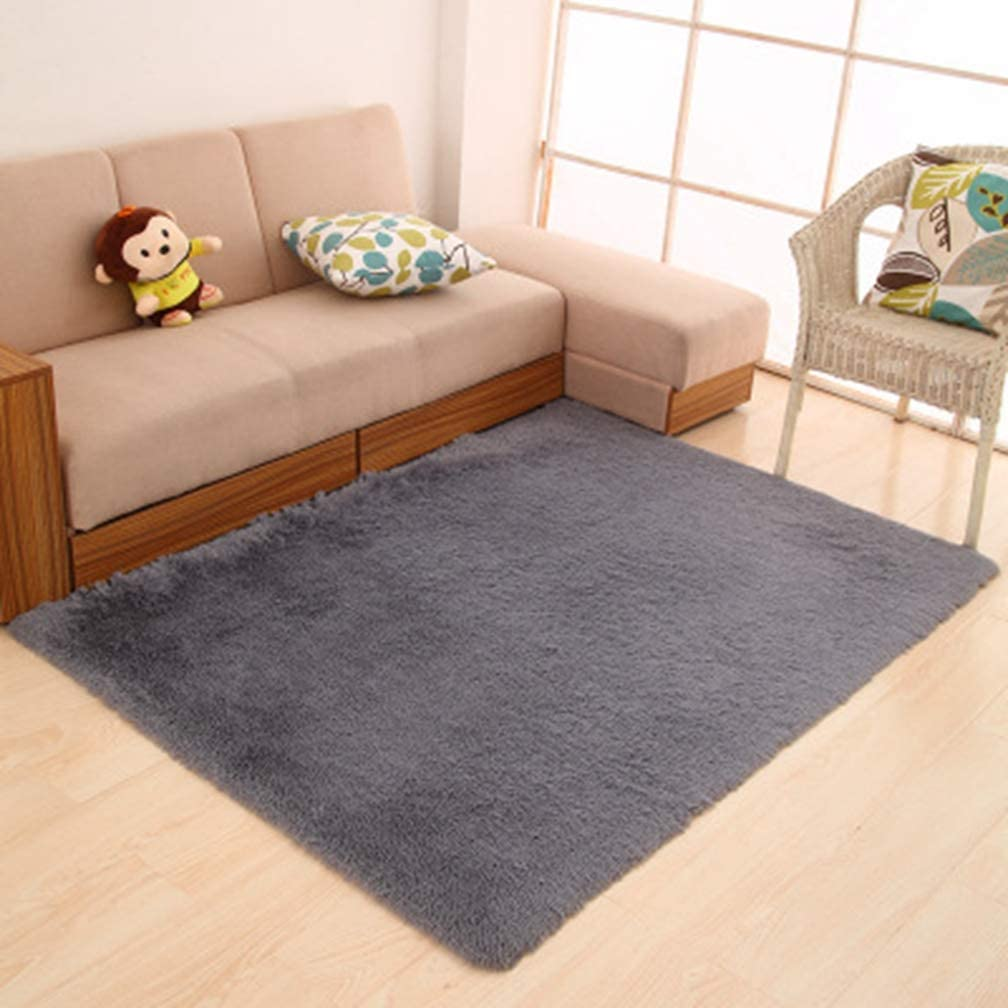 Solid Square Popular products Area Rugs Soft Shag Children Max 46% OFF Ru Room Living Bedroom