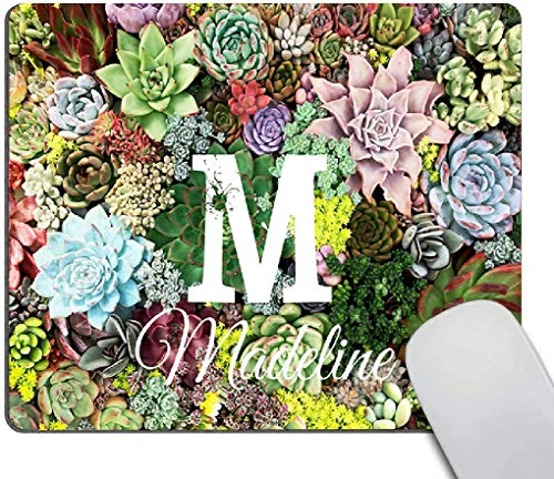 Mouse pad,Colorful Succulents Pattern Waterproof Anime Gaming Gift Mouse Pad Desk Accessories Non-Slip Rubber Mousepad for Laptop Wireless Mouse